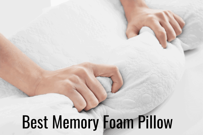 An image featuring a person squeezing an memory foam pillow