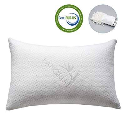 An image featuring LANGRIA Shredded Bamboo Pillow