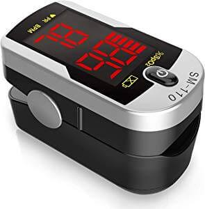 An image featuring Santamedical Deluxe SM-110 Fingertip Pulse Oximeter